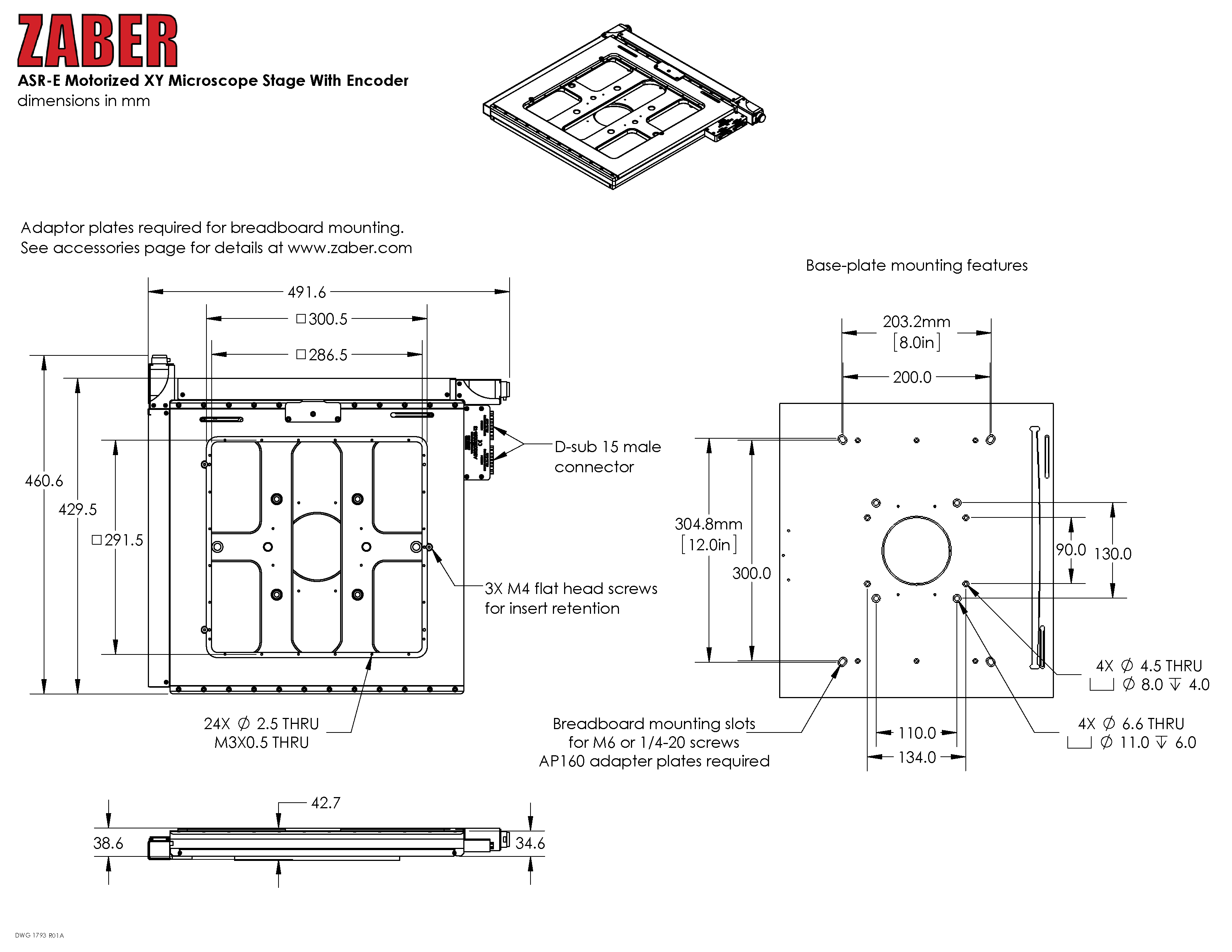 Asr E Users Manual Zaber Technologies Thread Wiring A Rotary Switch Impedance Selector