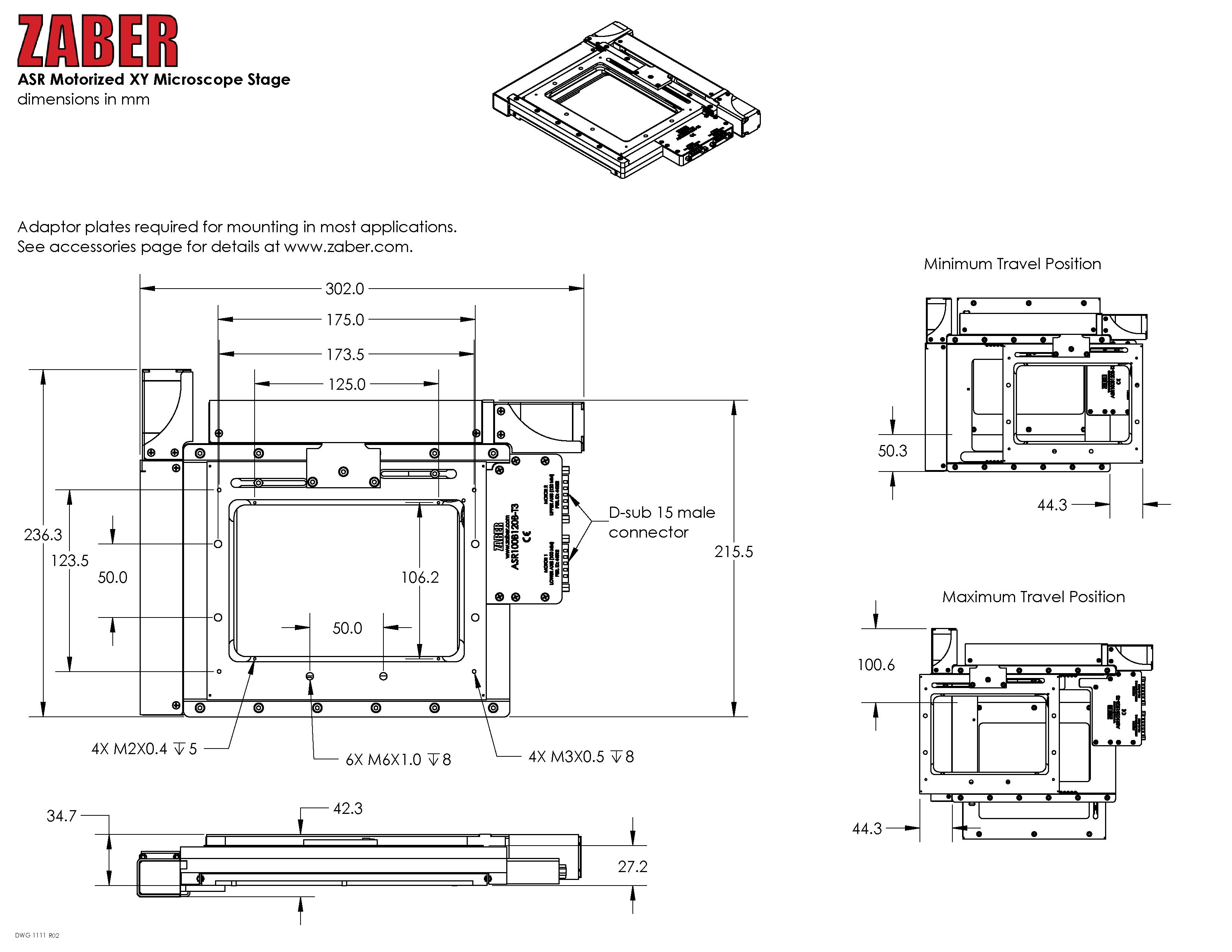 100 x 120mm Zaber™ Motorized XY Microscope Stage | Edmund Optics