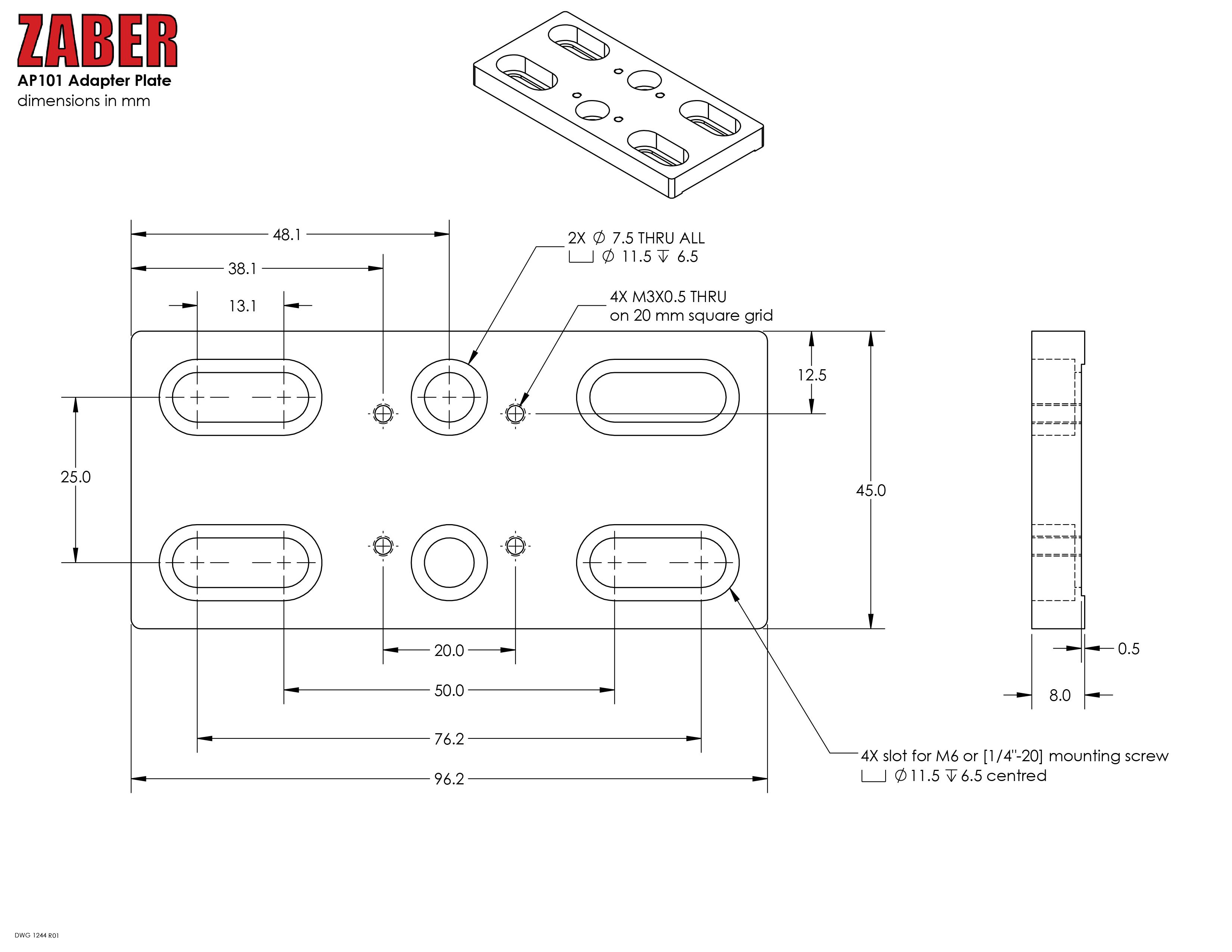 Bottom Adapter Plate | Edmund Optics