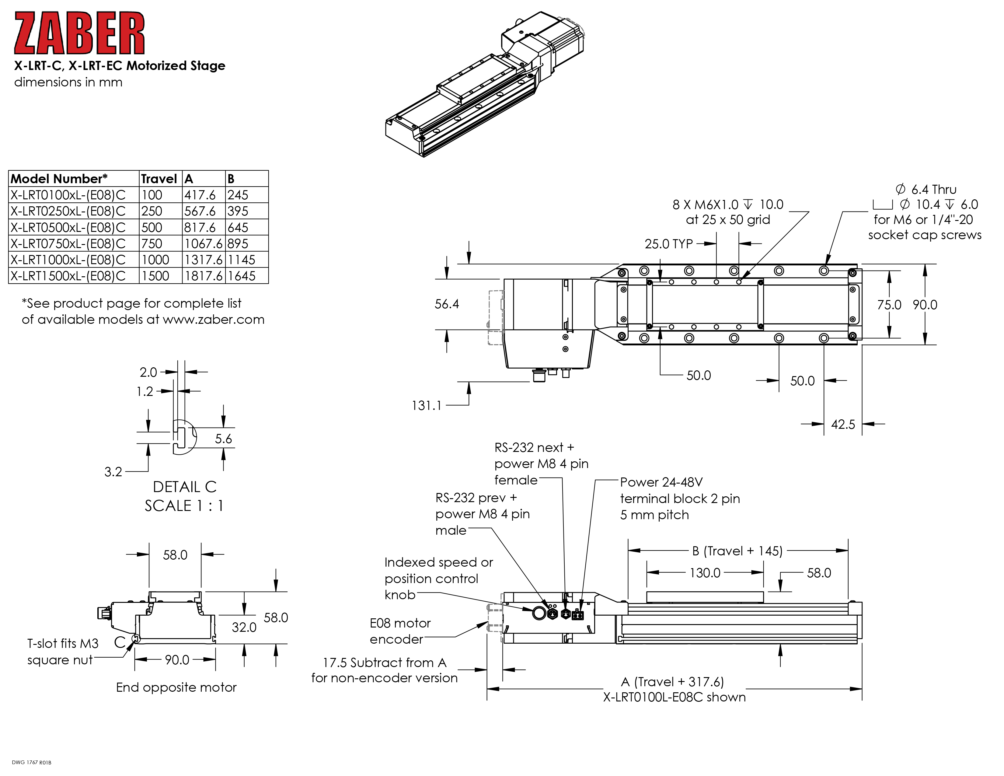 X Lrt Ec Users Manual Zaber Technologies Stepper Motors Using This Circuit In Full Step Mode Through The Rs232